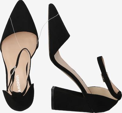 Sandale cu baretă GLAMOROUS pe negru: Privire laterală