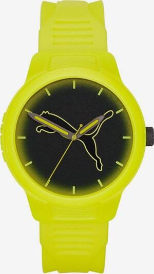 PUMA Uhr 'Reset V2' in neongelb / schwarz, Produktansicht