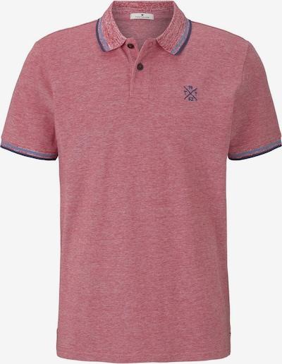 TOM TAILOR Poloshirt in blau / pastellrot, Produktansicht