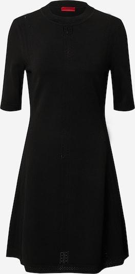 HUGO Pletena obleka 'Shatha' | črna barva, Prikaz izdelka