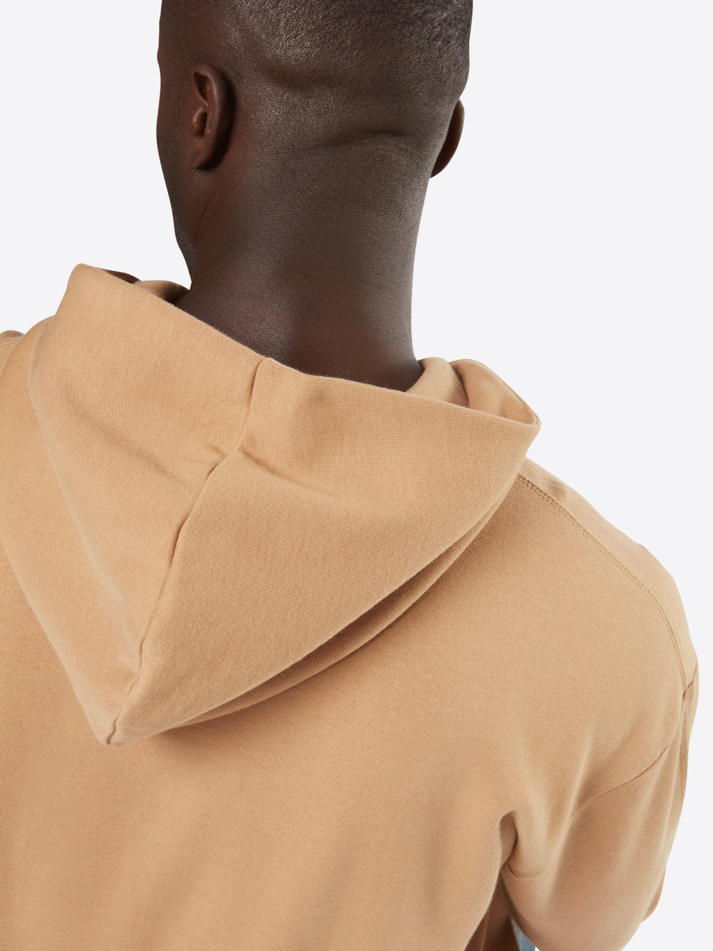 Bulk-Design Klassische Online Calvin Klein Jeans Sweatshirt mit Flockdruck RAZdMLgx7l