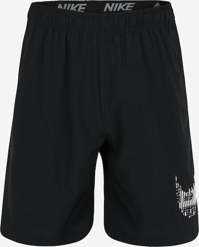 NIKE Sportske hlače 'Flex' u crna / bijela, Pregled proizvoda
