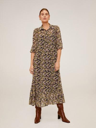 MANGO Kleid 'VESTIDO SHAN' in beige / khaki / schwarz, Modelansicht