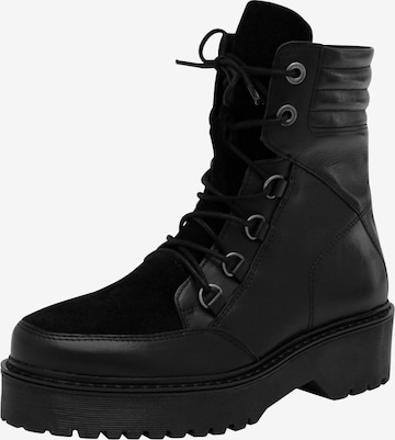 EDITED Lace-Up Ankle Boots 'Hedvig' in Black