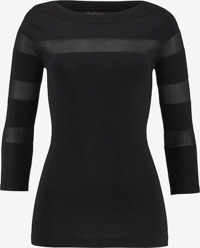 MELROSE 3/4 Arm-Pullover in black denim / transparent, Produktansicht