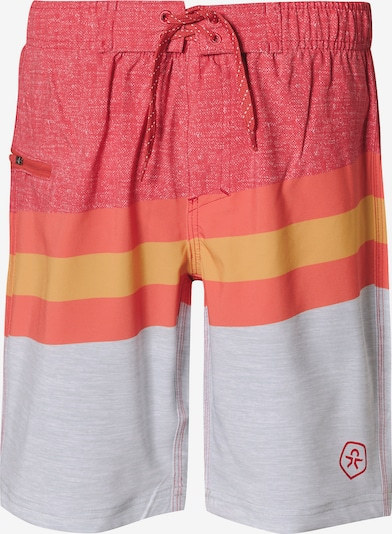 COLOR KIDS Badeshorts 'Kenny' in goldgelb / grau / orange / orangerot / melone, Produktansicht