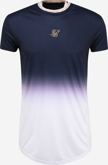 SikSilk Shirt in de kleur Navy / Wit: Vooraanzicht