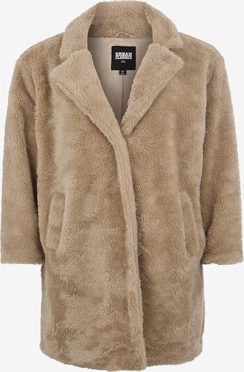 Urban Classics Curvy Mantel 'Sherpa Coat' in sand, Produktansicht