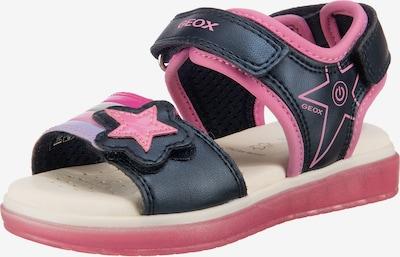 GEOX Sandale in nachtblau / pink / silber, Produktansicht