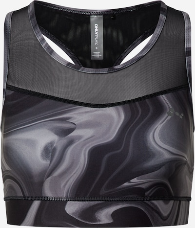 ONLY PLAY Bra 'Maya' in grau / schwarz, Produktansicht