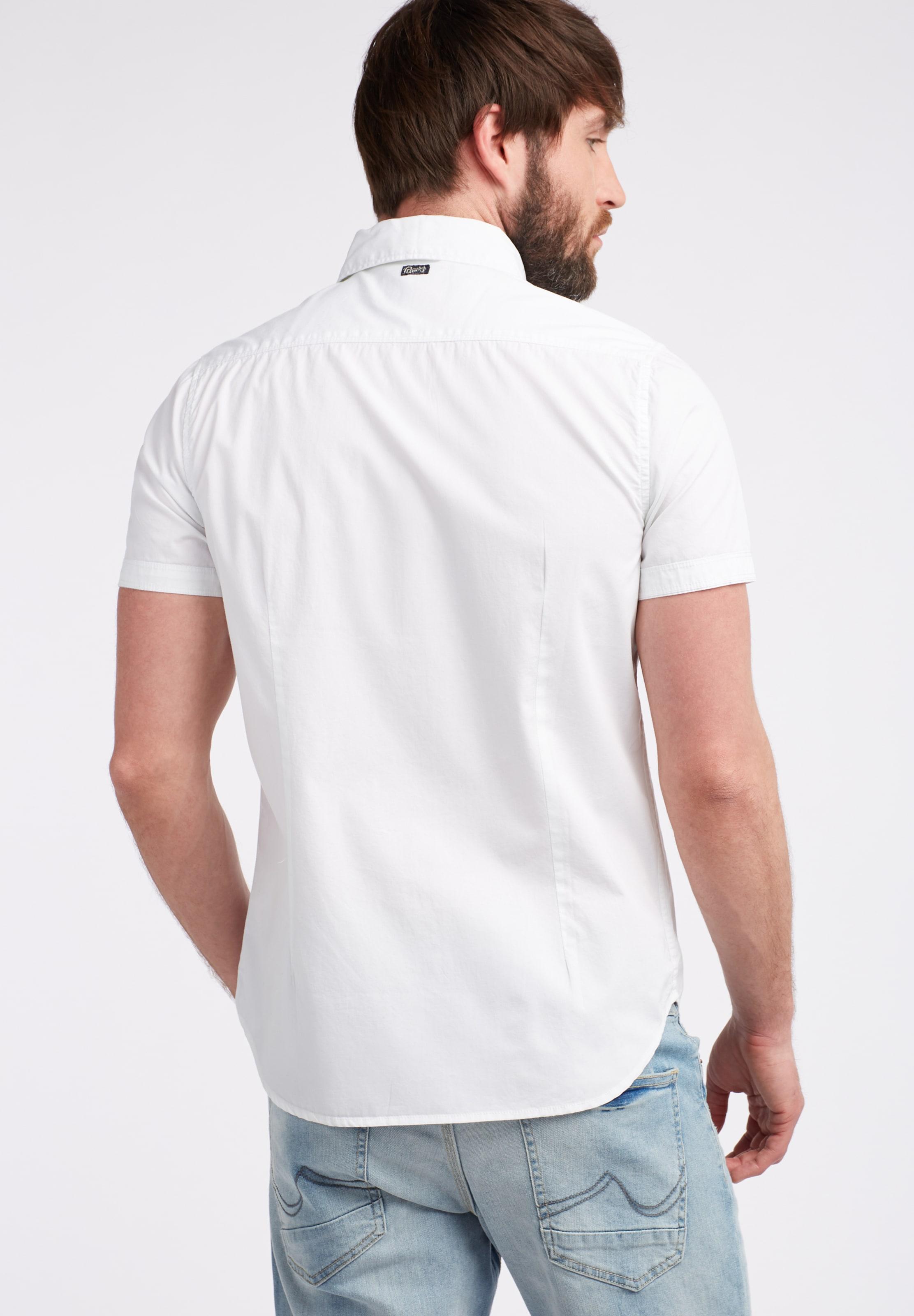 Industries Petrol Hemd Weiß In mnwvN08