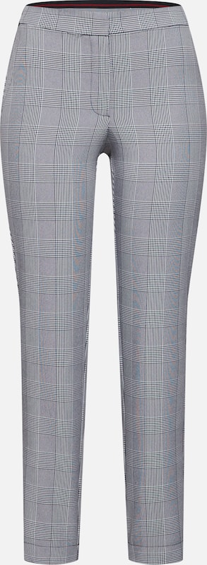 Noisy may Hose 'NMMELISSA NW FITTED CHECKED PANT' in anthrazit / schwarz / weiß, Produktansicht