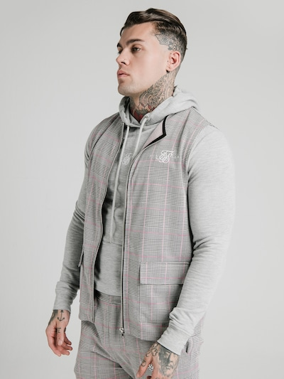SikSilk Weste in grau / rosa: Frontalansicht