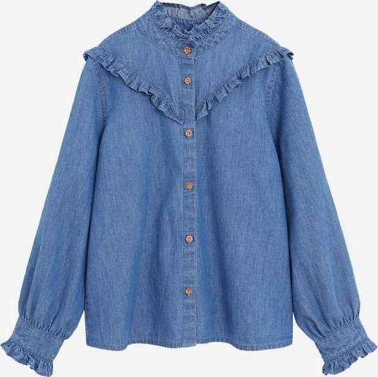MANGO KIDS Bluse 'Estrella' in blue denim, Produktansicht
