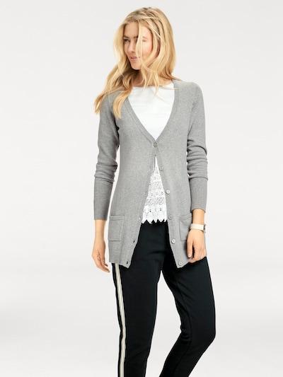 heine Strickjacke in grau, Modelansicht