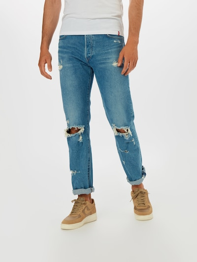 LEVI'S Jeans '501®' in blue denim, Modelansicht