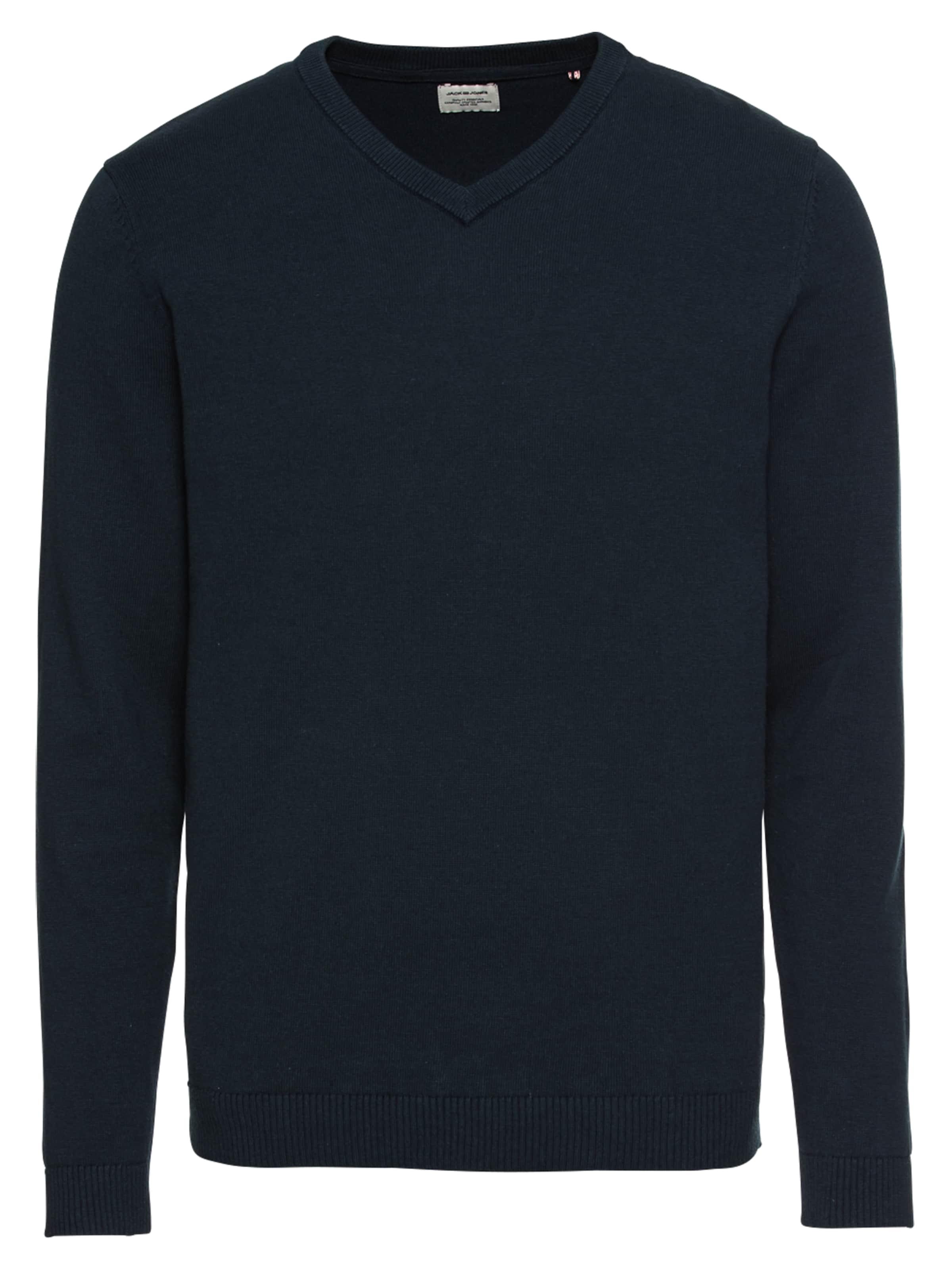 Jones V neck' 'jjebasic Pullover Knit Nachtblau Jackamp; In bf7gyYm6vI