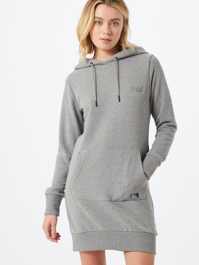 Superdry Sweatkleid in anthrazit, Modelansicht