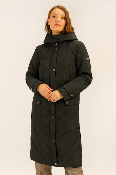 Finn Flare Mantel in schwarz, Produktansicht