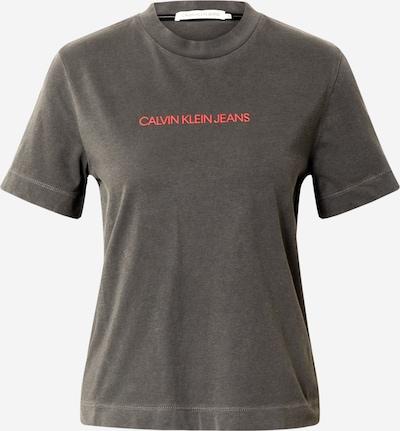Calvin Klein Jeans T-shirt 'Shrunken Institutional' en gris foncé / rose, Vue avec produit