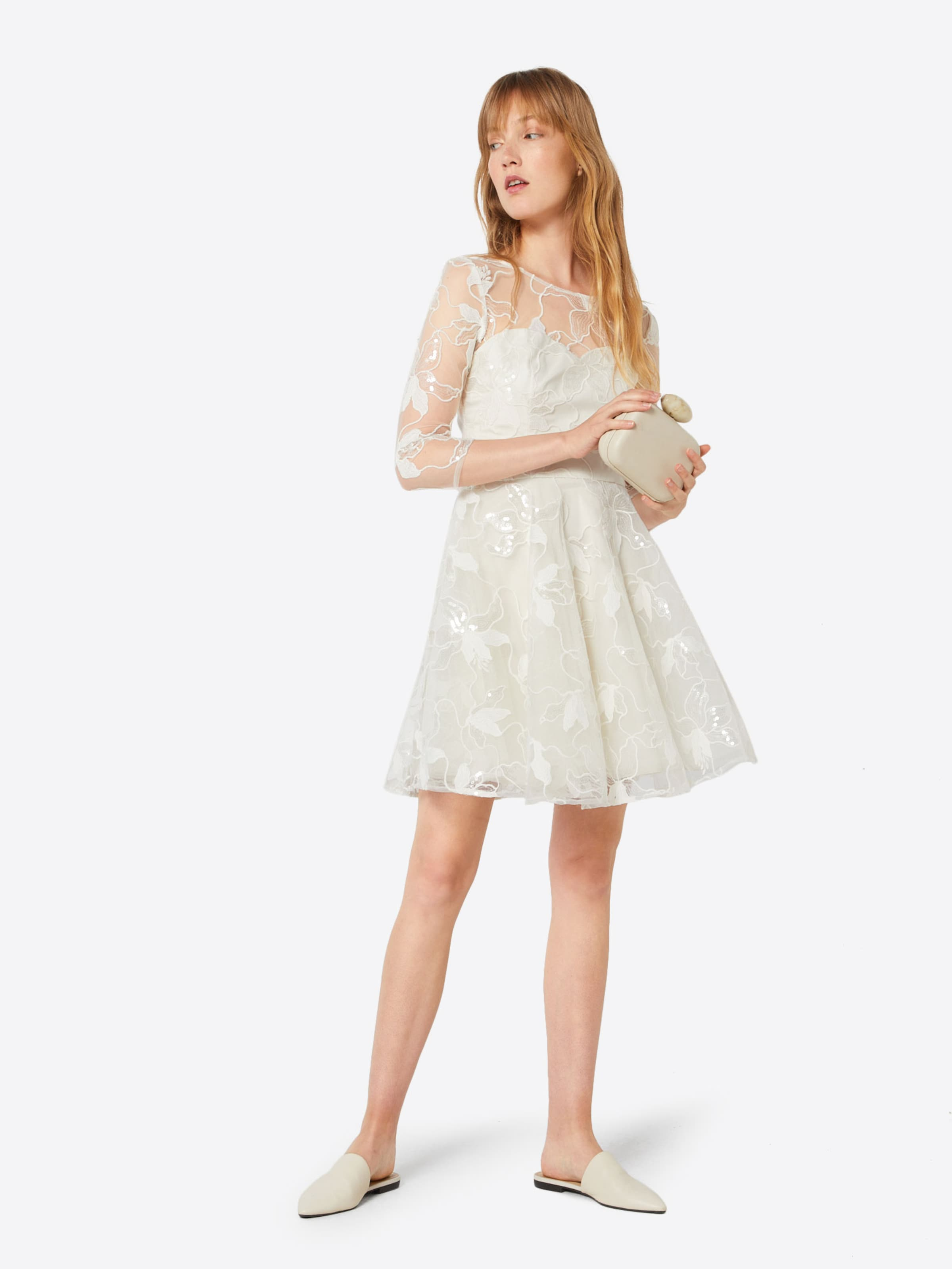 Chi Robe De En Cocktail Crème London XOPiZuk