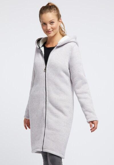DREIMASTER Gebreide mantel in de kleur Grijs, Modelweergave
