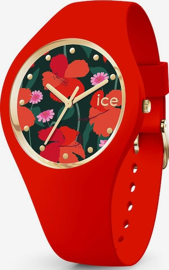 ICE WATCH ice-watch Quarzuhr »ICE flower, 017577« in rot, Produktansicht