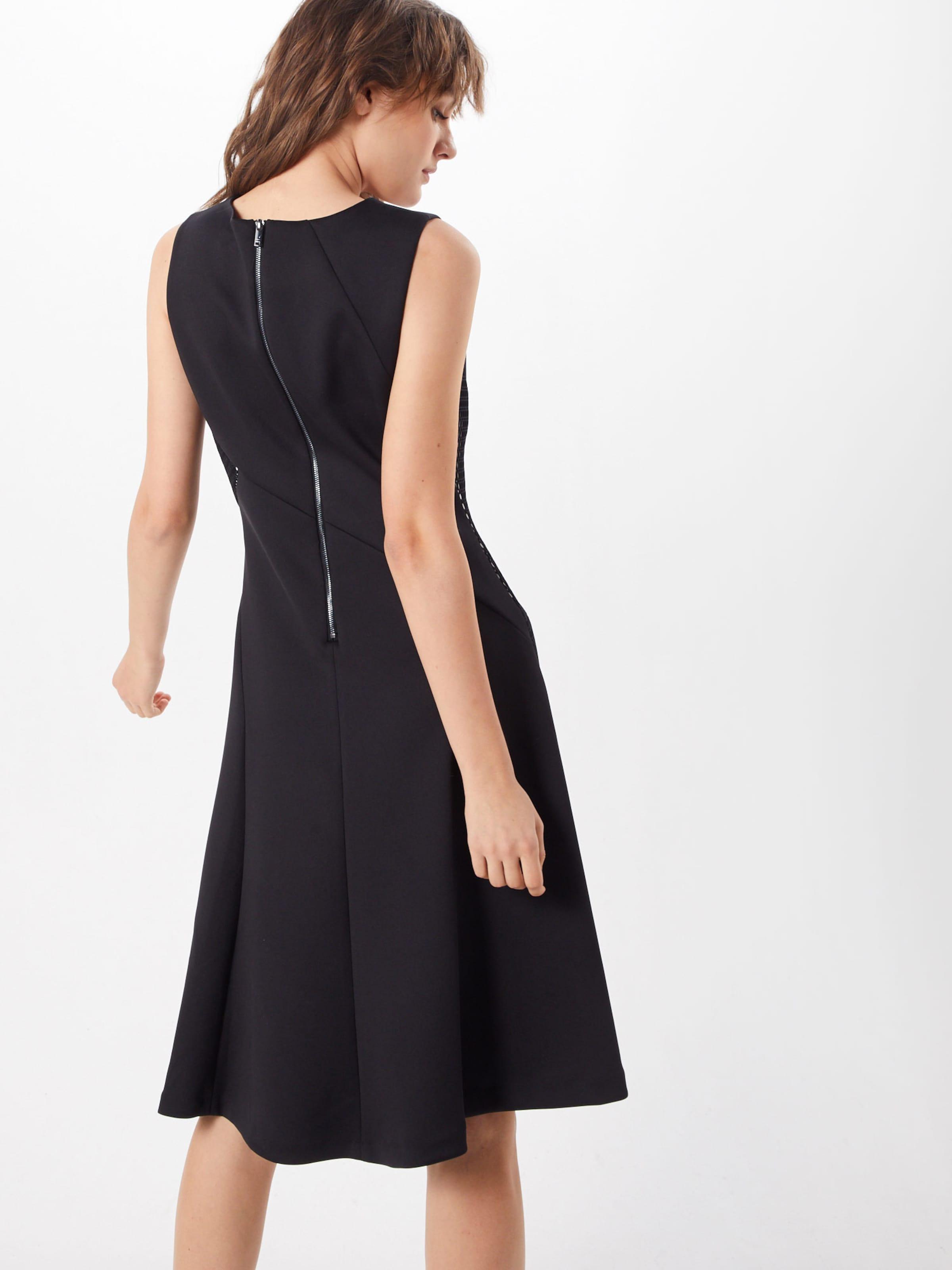 'flare SchwarzWeiß Dress' In Kleid Dkny UVpMSqz