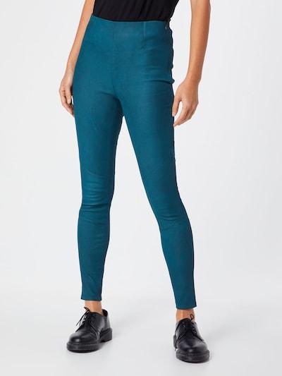 Pantaloni 'Nori Buffed' tigha pe turcoaz: Privire frontală