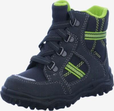 SUPERFIT Stiefel in dunkelgrau / neongrün, Produktansicht