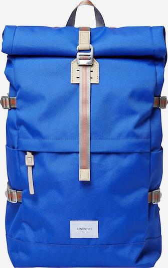 SANDQVIST Rucksack 'BERNT' in blau / braun, Produktansicht
