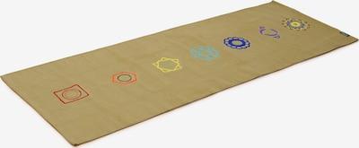Yogishop Matte 'Chakra' in blau / gelb / oliv / rot, Produktansicht