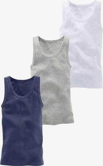H.I.S Tanktops (3 Stück), ideal zum Drunterziehen in marine / graumeliert / weiß, Produktansicht