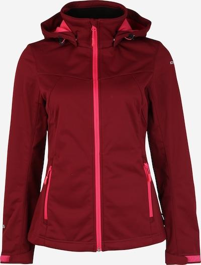ICEPEAK Outdoorjas in de kleur Wijnrood, Productweergave