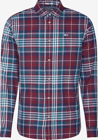 Tommy Jeans Košile - aqua modrá / vínově červená, Produkt