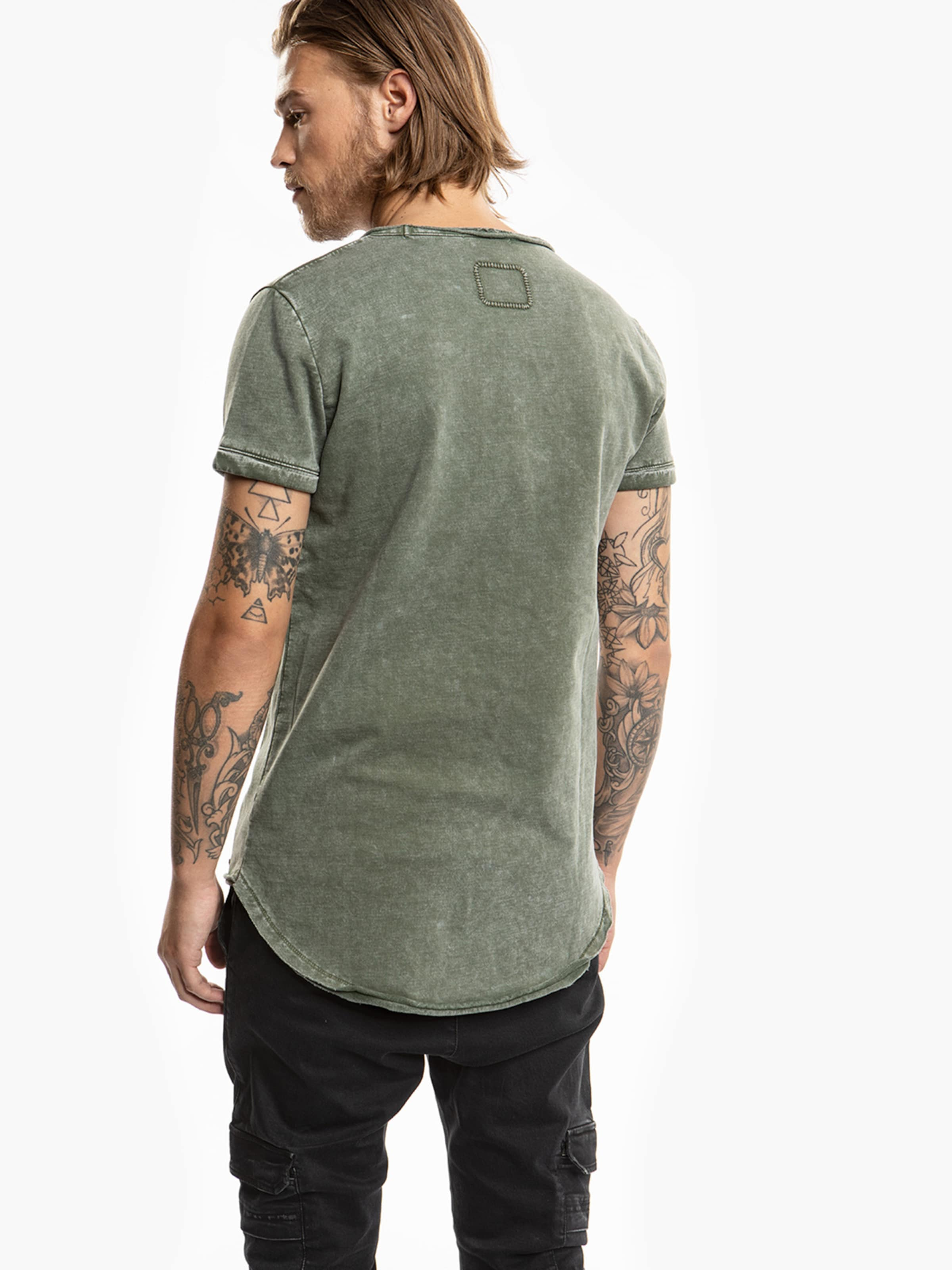 Tigha Shirt 'milo Sweat' In Grünmeliert N0wm8n