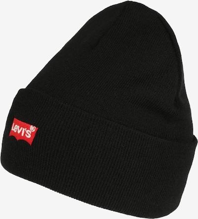 LEVI'S Mütze 'RED BATWING EMBROIDERED SLOUCHY BEANIE' in schwarz, Produktansicht