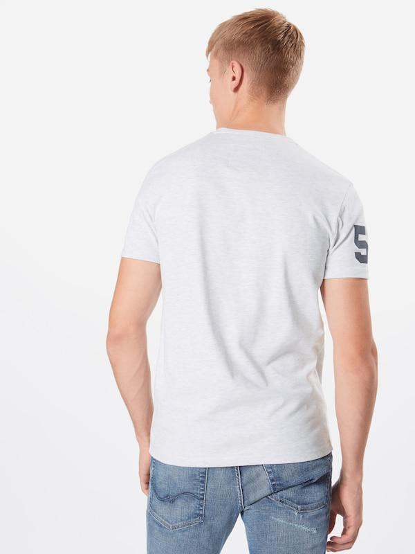 Clair shirt Superdry T BleuGris En f6gYbvy7