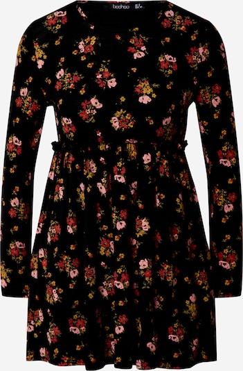 Boohoo Damen - Kleider 'FLORAL PRINT SMOCK DRESS' in schwarz, Produktansicht