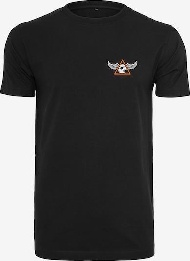 Mister Tee T-Shirt 'Pit Stop' in orange / schwarz / weiß: Frontalansicht