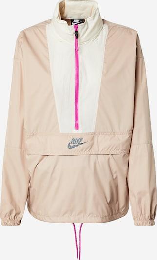 Nike Sportswear Übergangsjacke in rosa / weiß, Produktansicht
