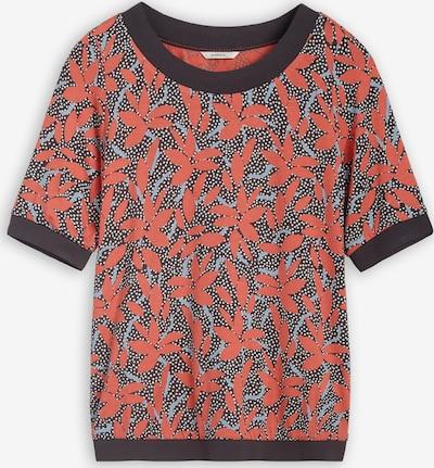 Sandwich T-Shirt in anthrazit / orange, Produktansicht