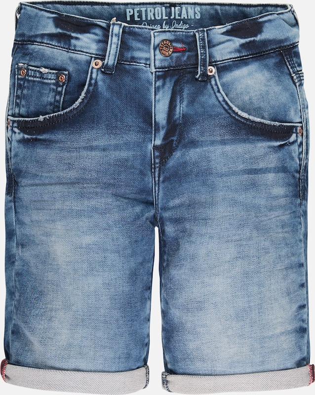 Petrol Industries Jeans-Shorts in blau: Frontalansicht