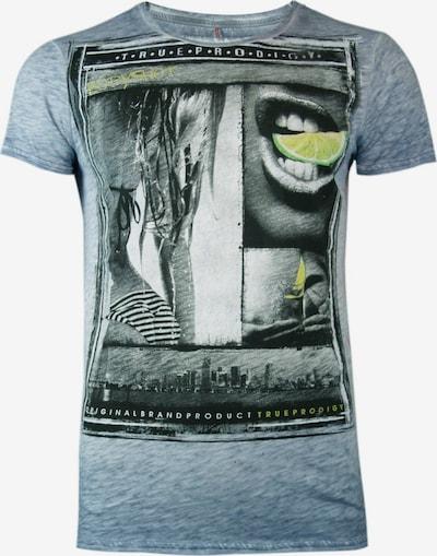 trueprodigy T-Shirt 'Bodyshot' in hellblau / gelb / grau / schwarz, Produktansicht