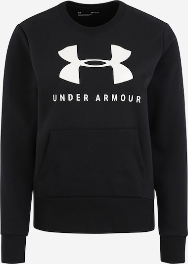 UNDER ARMOUR Sweatshirt in schwarz / weiß, Produktansicht