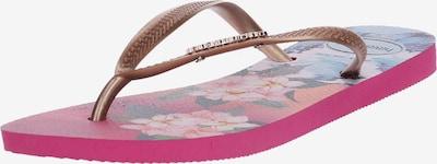 HAVAIANAS Séparateur d'orteils 'Slim Tropical Wave' en beige / bleu / rose, Vue avec produit
