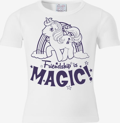 LOGOSHIRT T-Shirt 'My Little Pony' in dunkellila / weiß: Frontalansicht