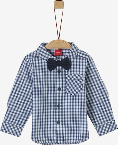 s.Oliver Junior Hemd in dunkelblau / weiß, Produktansicht