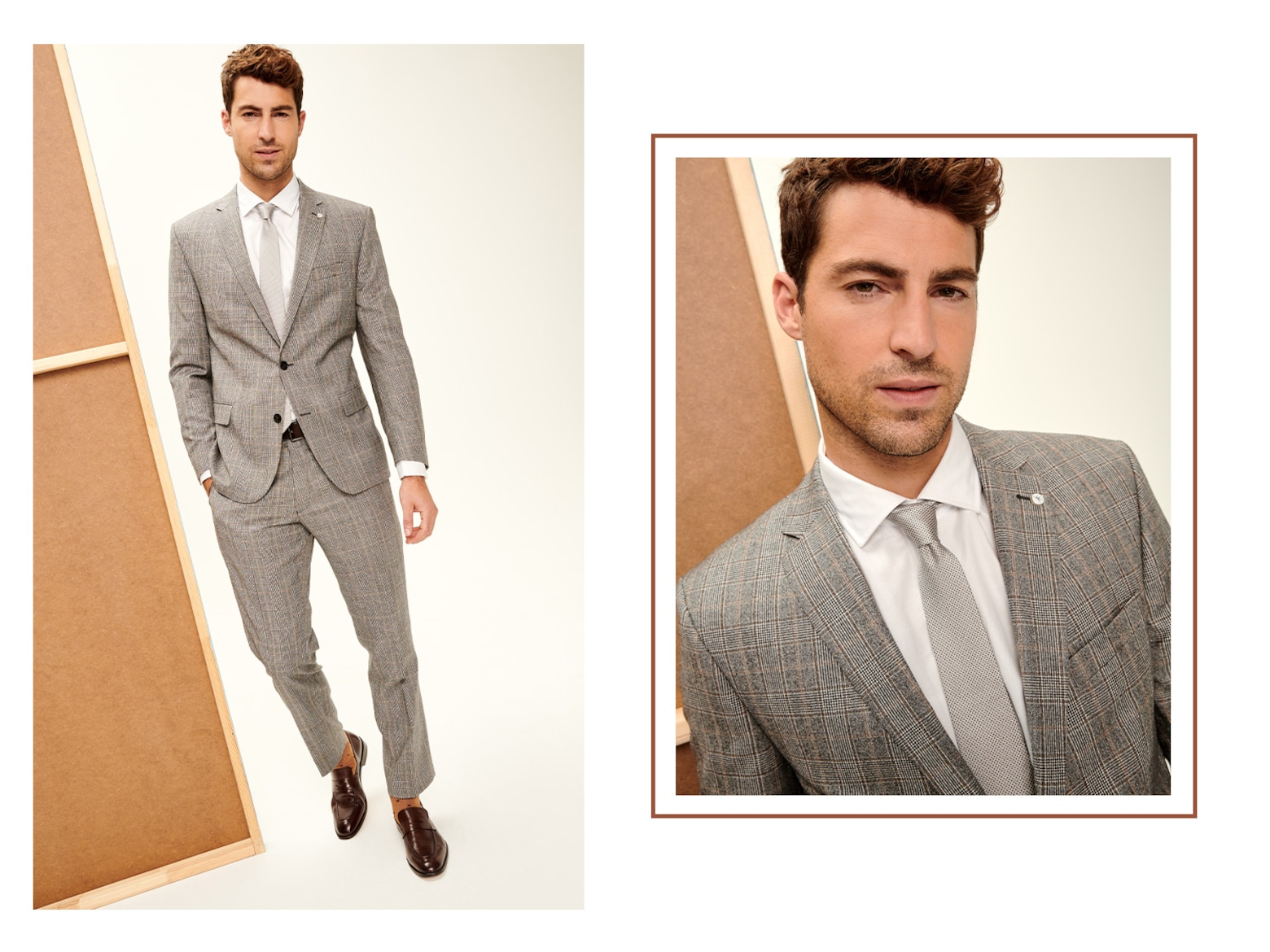 Antonio - Grey Checked Suit