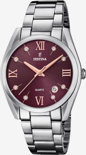 FESTINA Uhr 'Boyfriend, F16790/E' in rot / silber, Produktansicht